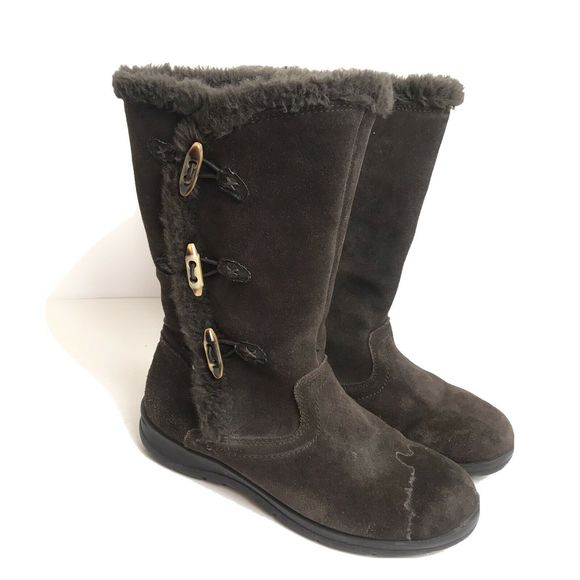 Leather Fur Lined Boots